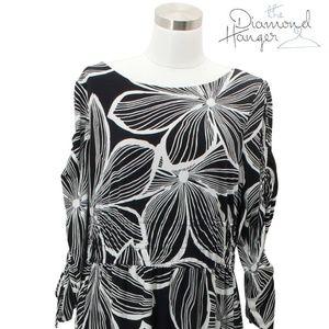 MICHAEL KORS Designer Dress Size L / XL Large Bla